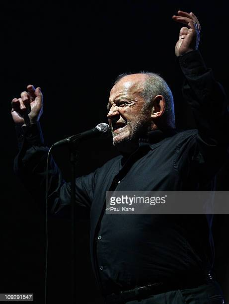 Joe Cocker performs on stage at Sir James Mitchell Park on February 19 2011 in Perth Australia