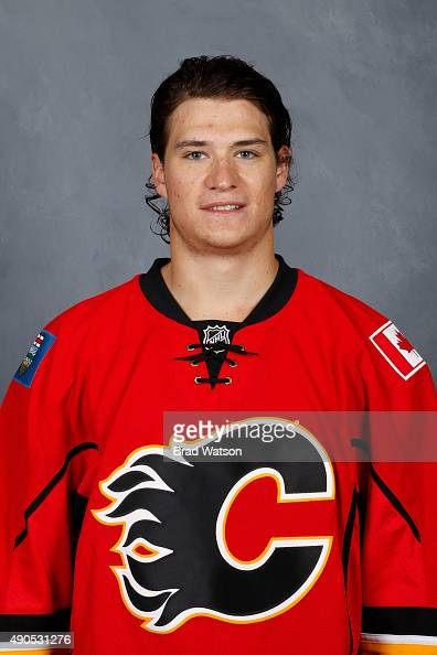 Joe Colborne of the Calgary Flames poses for his official headshot for the 20152016 season on September 17 2015 at the WinSport Winter Sport...
