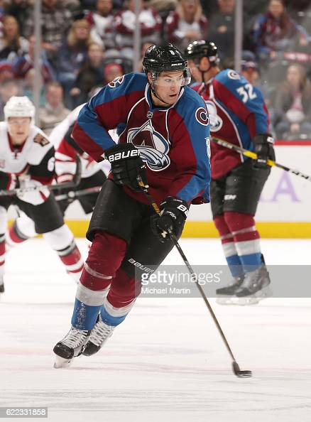 Joe Colborne of the Colorado Avalanche skates against the Arizona Coyotes at the Pepsi Center on November 8 2016 in Denver Colorado 'n