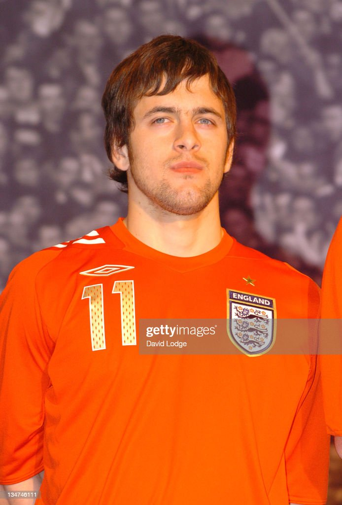 Joe Cole during Official Launch of the New England Away Kit at SAS Radisson Hotel in Manchester, Great Britain.