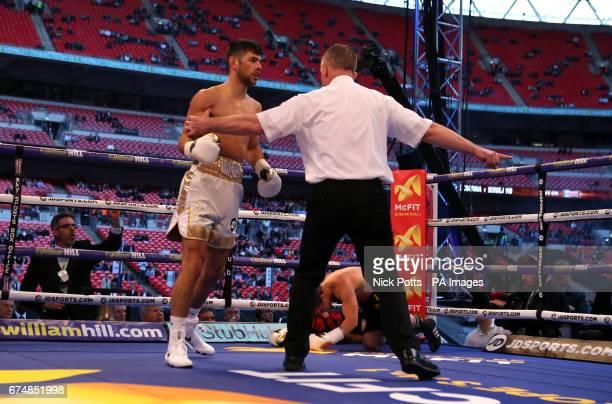 Joe Cordina following his Super Featherweight victory over Sergej Vib at Wembley Stadium London