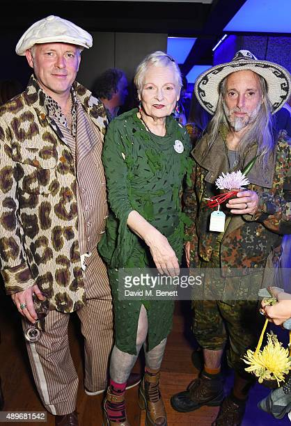 Joe Corre Dame Vivienne Westwood and Ben Westwood attend the launch of the Cool Earth Goes Global initiative hosted by Dame Vivienne Westwood and...