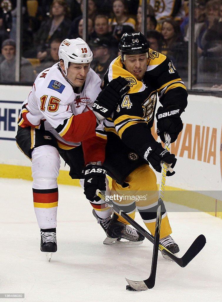 Calgary Flames v Boston Bruins
