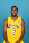 Joe Crawford of the Los Angeles Lakers poses for a portrait during NBA Media Day on September 29 2008 at the Toyota Sports Center in El Segundo...