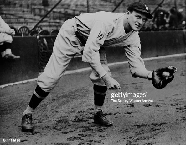 Joe Cronin shortstop of the Washington Senators grabs a ground ball circa 1930