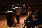 Joe de la Cruz who's son is in recovery from heroin addiction speaks to students at Fitch Senior High School to educate them about the dangers of...