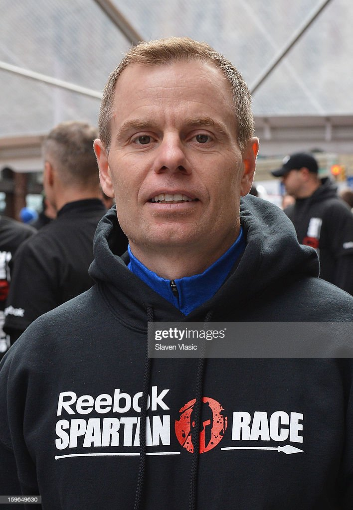 Joe De Sena, Spartan Co-founder attend the Spartan Race 2013 Launch at Times Square on January 17, 2013 in New York City.