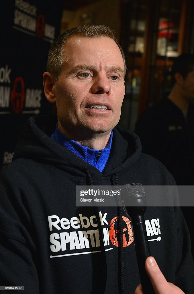 Joe De Sena, Spartan Co-founder attend the Spartan Race 2013 Launch at Heartland Brewery on January 17, 2013 in New York City.