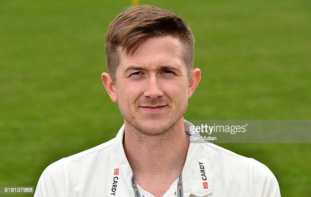 Joe Denly of Kent poses during the Kent CCC Photocall at The Spitfire Ground on April 4 2016 in Canterbury England