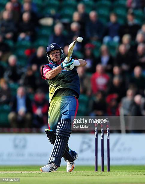 Joe Denly of Kent Spitfires bats during the NatWest T20 Blast match between Kent and Surrey at The County Ground on May 29 2015 in Beckenham England