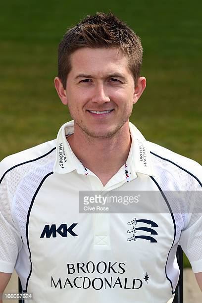 Joe Denly of Middlesex poses for a portrait during the Middlesex CCC Photocall at Lords on April 8 2013 in London England