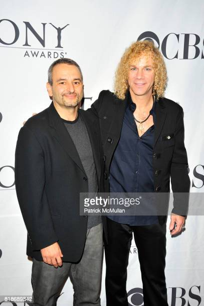 Joe DiPietro and David Bryan attend The American Theatre Wingís Antoinette Perry ìTonyî Awards at InterContinental New York Barclay NYC on June 12...