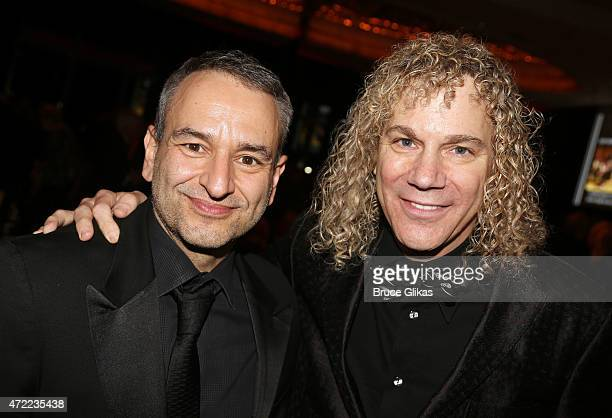 Joe DiPietro and David Bryan pose at the After Party for The New York Pops 32nd birthday celebration honoring Rob Kathleen Marshall at The Mandarin...