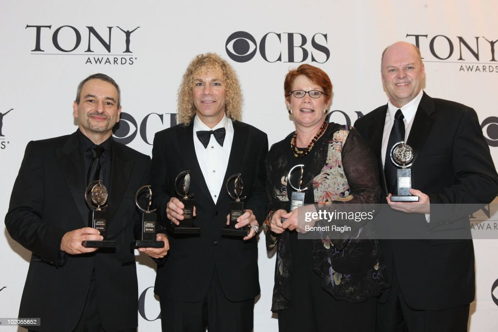 Joe DiPietro, David Bryan, Sue Frost and Randy Adams attend the 64th Annual Tony Awards at The Sports Club/LA on June 13, 2010 in New York City.