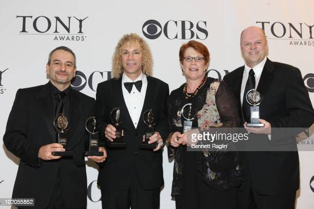 Joe DiPietro David Bryan Sue Frost and Randy Adams attend the 64th Annual Tony Awards at The Sports Club/LA on June 13 2010 in New York City