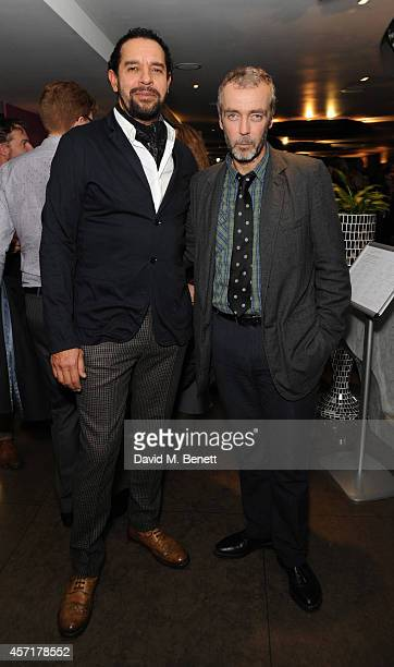 Joe Dixon and John Hannah attend the press night performance of 'Uncle Vanya' at The St James Theatre on October 13 2014 in London England