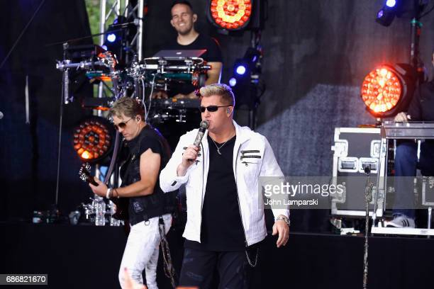Joe Don Rooney and Gary LeVox of Rascal Flatts perform on NBC's 'Today' at Rockefeller Plaza on May 22 2017 in New York City