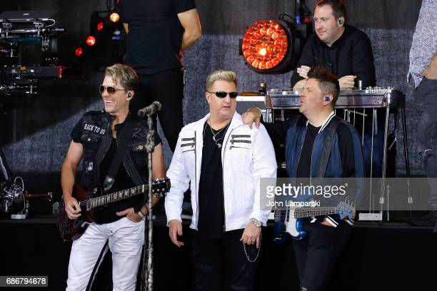 Joe Don Rooney Gary LeVox and Jay De Marcus of Rascal Flatts perform on NBC's 'Today' at Rockefeller Plaza on May 22 2017 in New York City