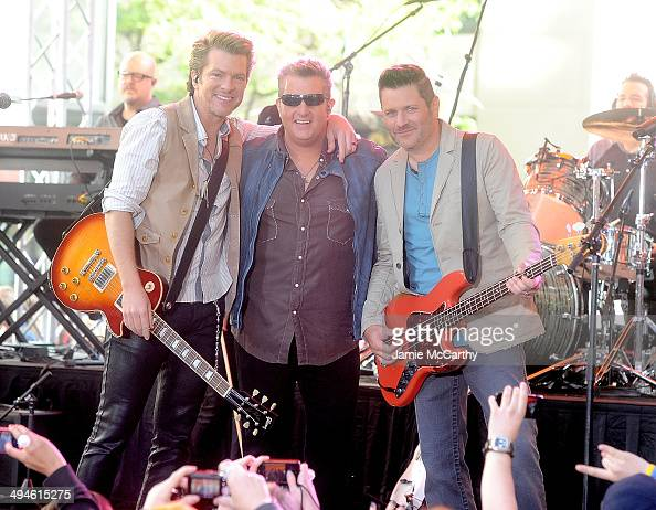 Joe Don RooneyGary LeVox Jay DeMarcus of Rascal Flatts perform on NBC's 'Today' at the NBC's TODAY Show on May 30 2014 in New York New York
