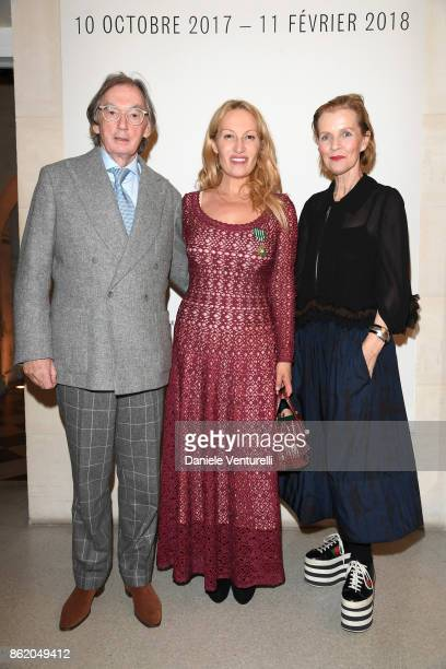 Joe Donnelly and wife Marie attend a cocktail in honour of Diana Widmaier Picasso and Alexander SC Rower awarded with the Chevalier and Officier de...