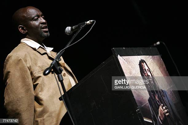Joe Dube brother of South african reggae musician Lucky Dube murdered last week in an attempted hijacking gives his remarks 24 October 2007 during a...