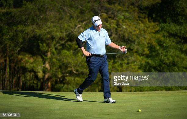 Joe Durant approaches his ball on the 16th hole during the first round of the PGA TOUR Champions Dominion Energy Charity Classic at The Country Club...