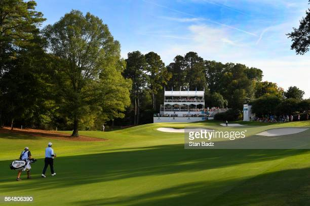Joe Durant approaches the 16th green during the second round of the PGA TOUR Champions Dominion Energy Charity Classic at The Country Club of...