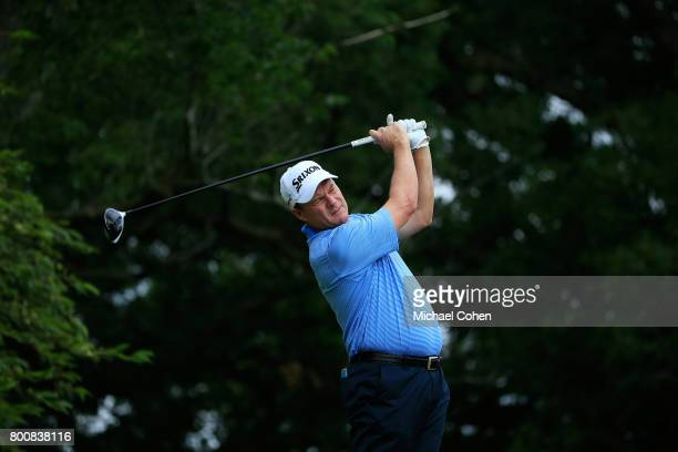 Joe Durant hits his drive on the second hole during the third and final round of the American Family Insurance Championship held at University Ridge...