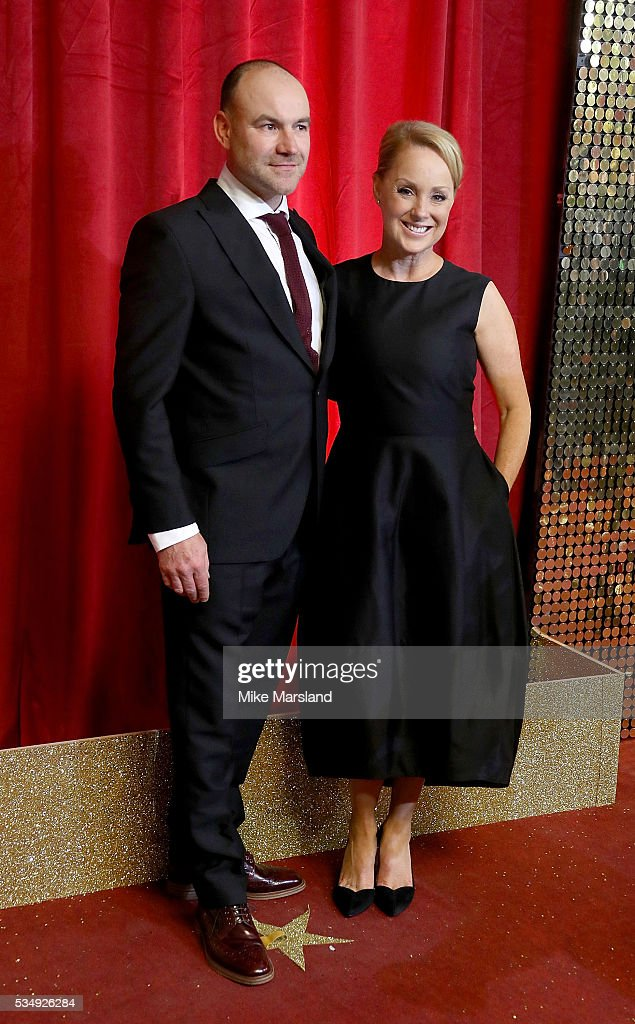 Joe Duttine and Sally Dynevor attend the British Soap Awards 2016 at Hackney Empire on May 28, 2016 in London, England.