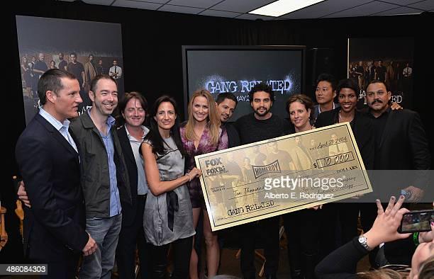 Joe Earley Chief Operating Officer FOX and GANG RELATED Executive Producers Chris Morgan Scott Rosenbaum and Francie Calfo and cast members Shantel...