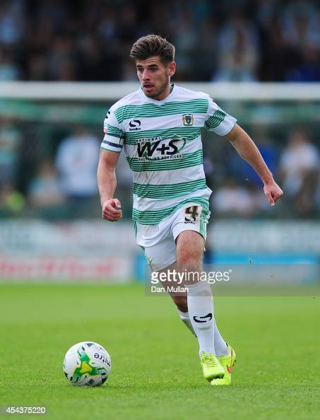 Joe Edwards of Yeovil Town in action during the Sky Bet League One match between Yeovil Town and Barnsley at Huish Park on August 30 2014 in Yeovil...