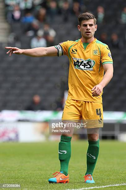 Joe Edwards of Yeovil Town in action during the Sky Bet League One match between MK Dons and Yeovil Town at Stadium mk on May 3 2015 in Milton Keynes...