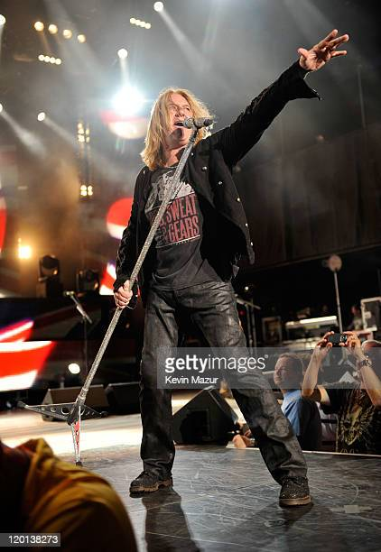 Joe Elliott of Def Leppard performs at Nikon at Jones Beach Theater on July 30 2011 in Wantagh New York