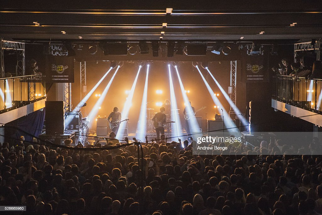 Joe Falconer, Kieran Shudall, Colin Jones and Sam Rourke of Circa Waves performs at The Refectory during Live At Leeds on April 30, 2016 in Leeds, England.