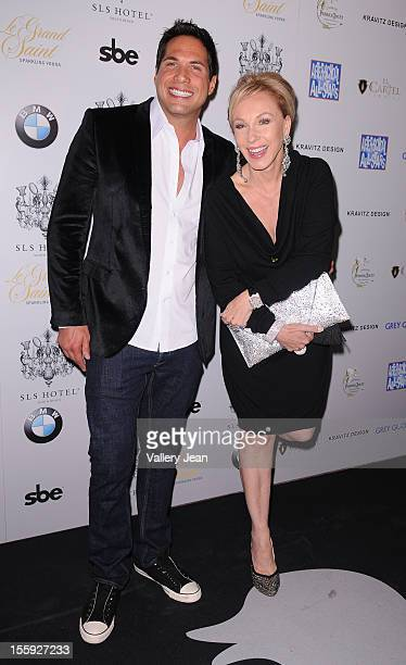 Joe Francis and Lea Black arrive at Grand Opening of SLS Hotel South Beach at SLS South Beach on November 8 2012 in Miami Florida