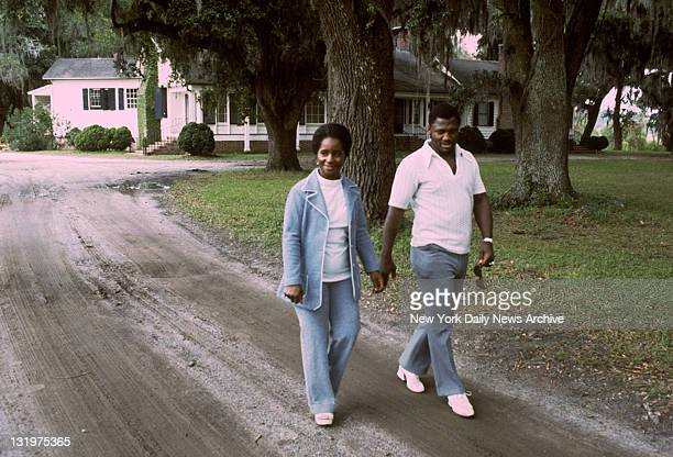 Joe Frazier with wife Florence at his home in Yemassee South Carolina