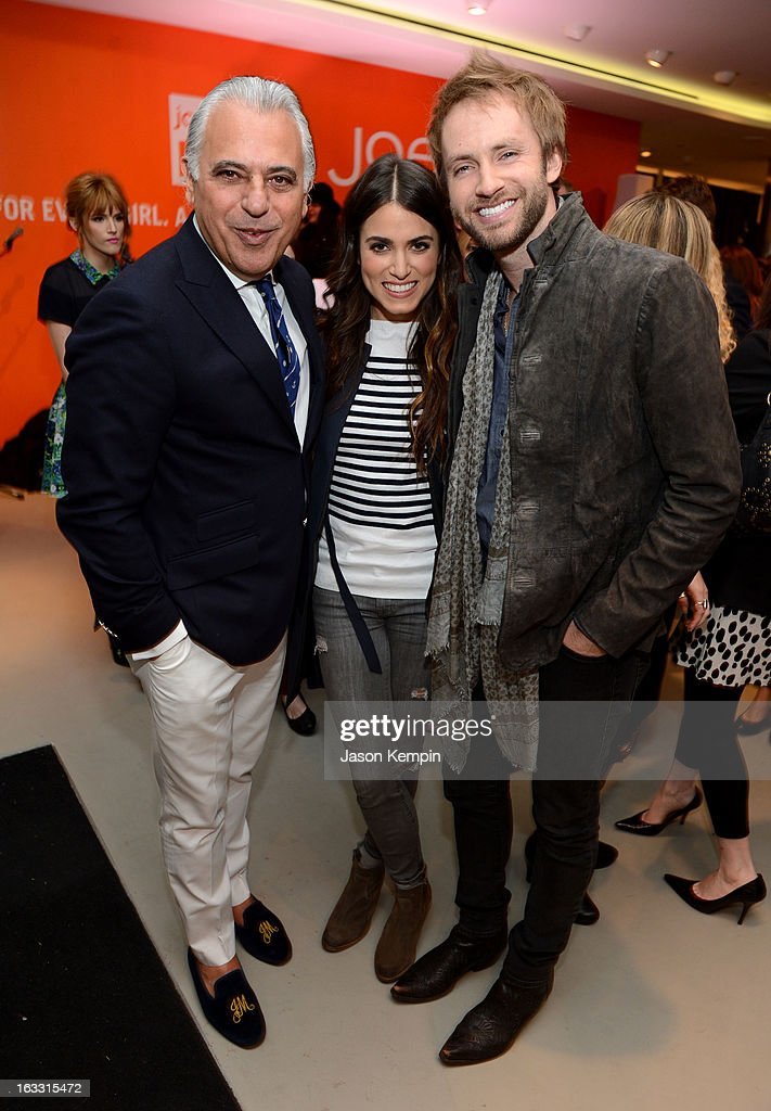 Joe Fresh Creative Director Joe Mimran, actress <a gi-track='captionPersonalityLinkClicked' href=/galleries/search?phrase=Nikki+Reed&family=editorial&specificpeople=220844 ng-click='$event.stopPropagation()'>Nikki Reed</a> and musician Paul McDonald attend Joe Fresh at jcp launch event on March 7, 2013 in Beverly Hills, California.
