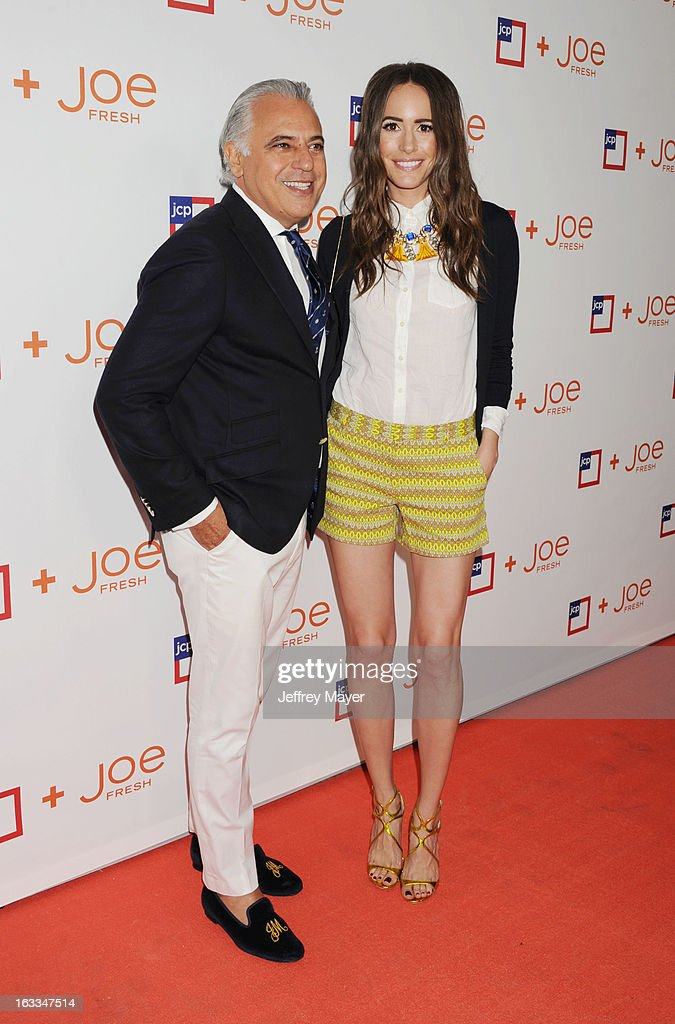 Joe Fresh Creative Director Joe Mimran and actress <a gi-track='captionPersonalityLinkClicked' href=/galleries/search?phrase=Louise+Roe&family=editorial&specificpeople=4300958 ng-click='$event.stopPropagation()'>Louise Roe</a> attend the Joe Fresh at jcp launch event at Joe Fresh at jcp Pop Up on March 7, 2013 in Los Angeles, California.