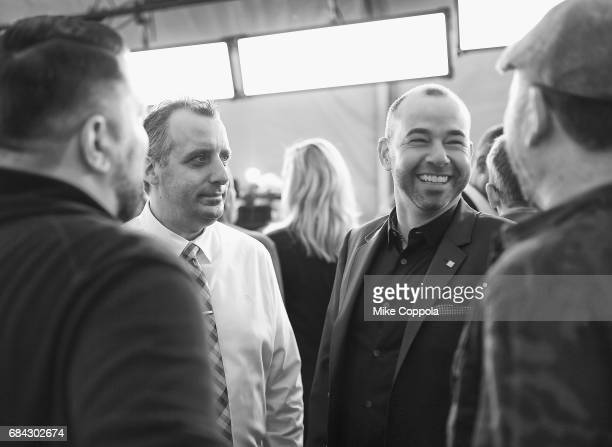 Joe Gatto James Murray attend the Turner Upfront 2017 arrivals on the red carpet at The Theater at Madison Square Garden on May 17 2017 in New York...