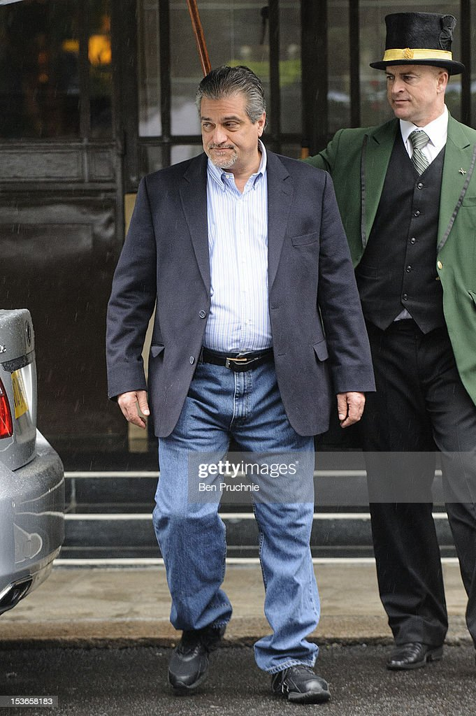 Joe Germanotta sighted leaving the Dorchester Hotel on October 8, 2012 in London, England.