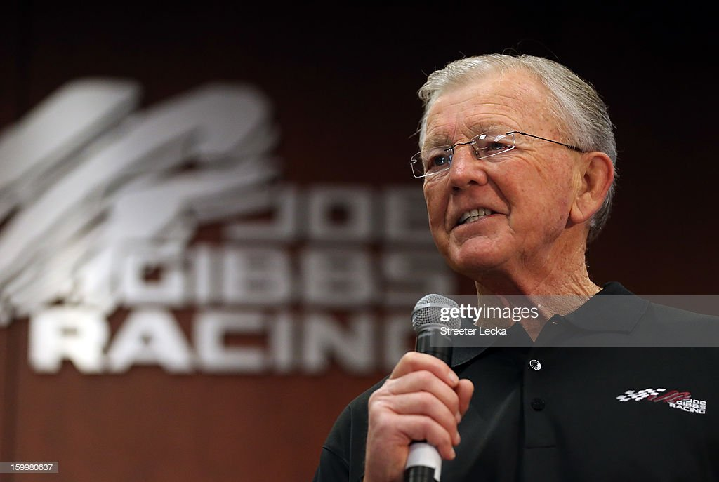 Joe Gibbs, team owner of JGR, speaks to the media during the 2013 NASCAR Sprint Media Tour on January 24, 2013 in Concord, North Carolina.
