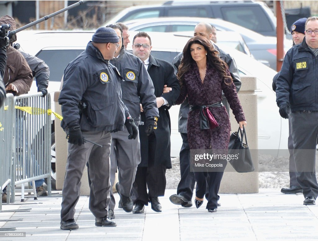 Joe Giudice and Teresa Giudice appear in court to face charges of defrauding lenders illegally obtaining mortgages and other loans as well as...