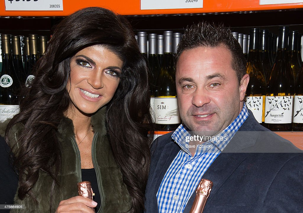 Joe Giudice and Teresa Giudice host a wine bottle signing and tasting at NB Liquors at Costco on March 1 2014 in North Plainfield New Jersey