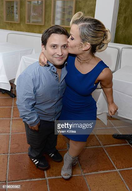 Joe Gnoffo and Terra Jole attend Emma Slater And Sasha Farber's Engagement Dinner at Fig Olive on October 31 2016 in West Hollywood California