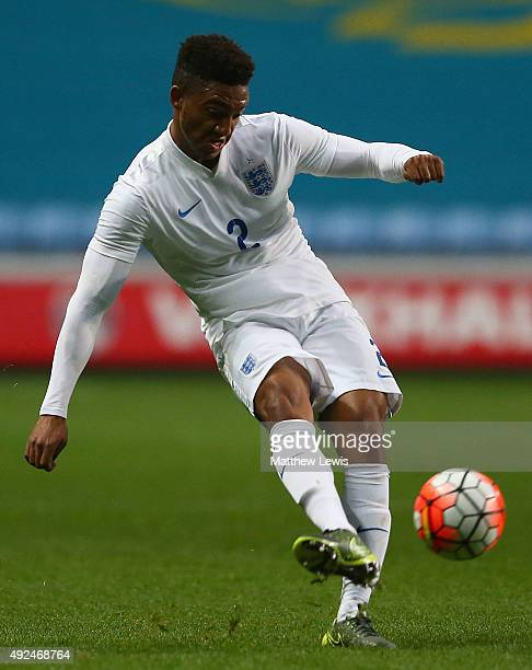 Joe Gomez of England in action during the European Under 21 Qualifier match between England U21 and Kazakhstan U21 at Ricoh Arena on October 13 2015...