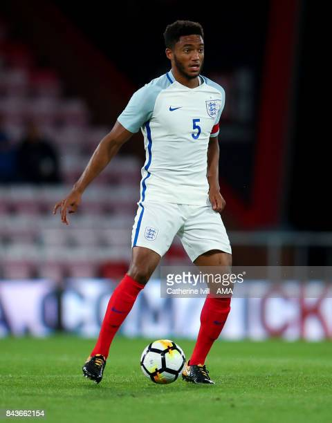 Joe Gomez of England U21 during the UEFA Under 21 Championship Qualifier match between England and Latvia at Vitality Stadium on September 5 2017 in...