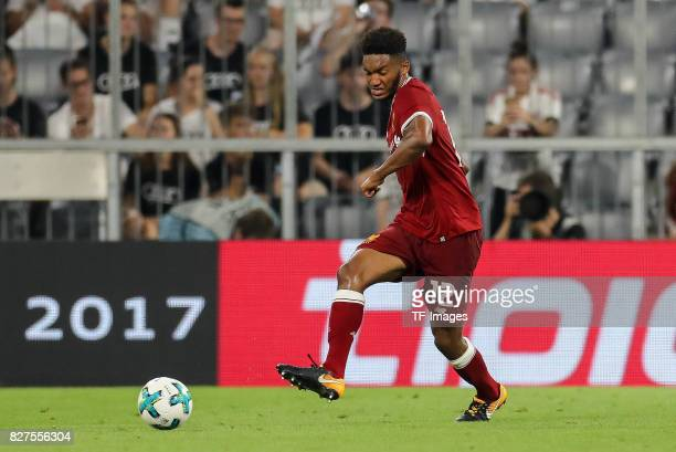 Joe Gomez of Liverpool controls the ball during the Audi Cup 2017 match between Liverpool FC and Atletico Madrid at Allianz Arena on August 2 2017 in...