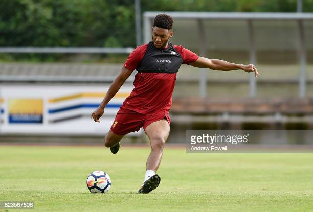 Joe Gomez of Liverpool during a training session at RottachEgern on July 27 2017 in Munich Germany