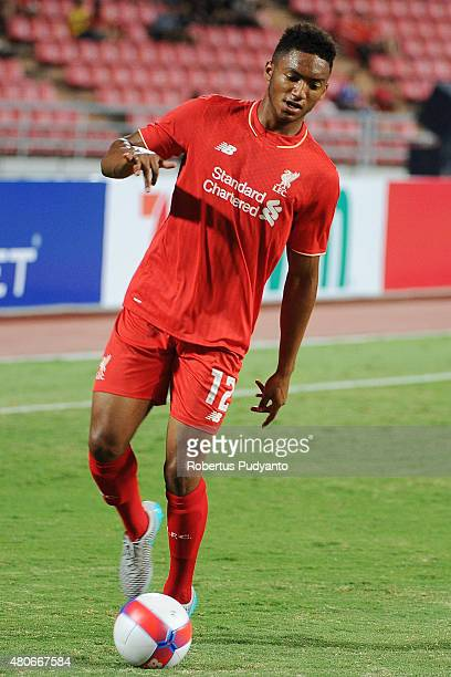 Joe Gomez of Liverpool in action during the international friendly match between Thai Premier League All Stars and Liverpool FC at Rajamangala...