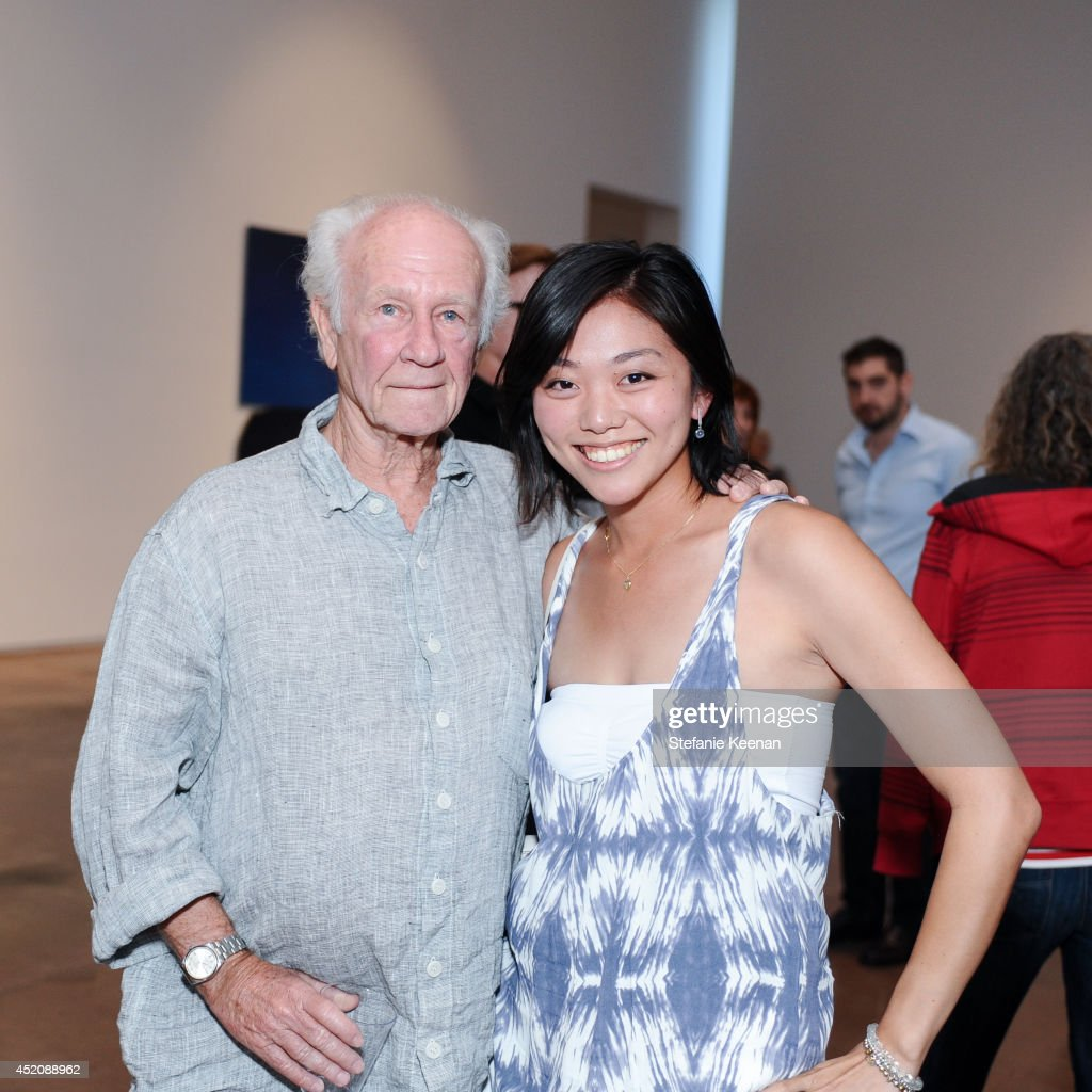 Joe Goode and Yuki Katayama attend Joe Goode 'Flat Screen Nature' on July 12, 2014 in Los Angeles, California.